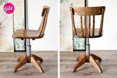 alter drehstuhl aus holz mit ein paar kleinen charmanten. Black Bedroom Furniture Sets. Home Design Ideas