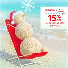 We're celebrating Christmas in July with 5 days of savings!  Save 15% OFF + $4.99 FLAT RATE SHIPPING. Use code: PNXMAS15