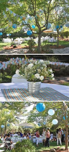An outdoor Sip and See is a great baby shower alternative where guests can mingle and meet the baby!