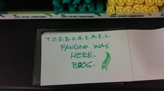 Way to go T.O.P.B.O.G.I.M.F.L. Fandom!  REPRESENT US!