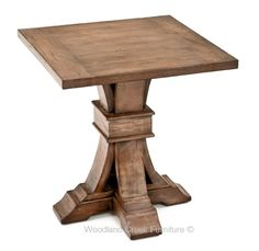 Our Modern Tuscan End Table features a unique, elegant base design. The curves add a sense of sophistication. The gentle curves are encased by mitered moldings. When this unique base is combined with a distressed, hand crafted finish, the table maintains the right balance of rustic and refinement. Our Modern Tuscan end table will add