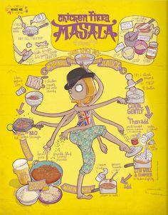 Emma Tissier. Chicken Masala. I want a recipe book of illustrations...?