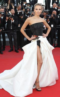 Natasha Poly in Atelier Versace Fall 2014 #Cannes2015 #VersaceCelebrities