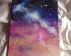 Acrylic Galaxy Painting Acrylic galaxy painting