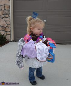 Brooke: Regan dressed as a cute bundle of laundry as she collected treats! Complete with a laundry scoop hair piece and stain removal spray, she was to tackle her entire basket...