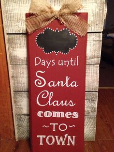 Christmas Countdown/Advent Fun Idea for Kids and Family Christmas Vinyl, Noel Christmas, Christmas Countdown, Christmas Signs, All Things Christmas, Winter Christmas, Christmas Decorations, Santa Countdown, Christmas Projects