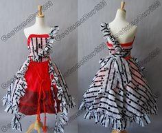Tim Burton Alice in Wonderland Alice Red Court Dress | eBay