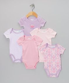 Look at this #zulilyfind! Vitamins Baby Lavender Tea Party Bodysuit Set - Infant by Vitamins Baby #zulilyfinds