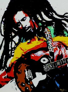Reggae Music Wall Art - Painting - Bob Marley by Eddie Lim Reggae Music, Rock Music, Jamaica, Bob Marley Painting, Rasta Art, Music Museum, Nesta Marley, Classic Rock And Roll, Music Artwork