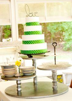Interesting idea four a cake stand