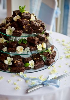 Because There Are Few Things In This World Better Than Brownies P Our Fantastic Gooey Chocolate Brownie Wedding Cake