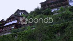 4k Traditional houses in Hallstatt mountain alps village - Stock Footage   by Beckhusen