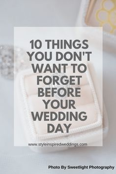 Let's face it, it is hard enough remembering tasks and info on any day in your regular life so, why would your busy wedding week be any different? I have done a little bit of research and found the 10 most common things you forget on your big day. Last Minute Wedding, Wedding Week, Before Wedding, On Your Wedding Day, Diy Wedding, Dream Wedding, Wedding Planning Book, Wedding Planner, Unsolicited Advice