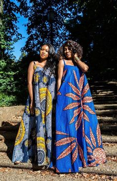 Beverly Blue Maxi Dress - African Print - Women's style: Patterns of sustainability African Fashion Designers, African Fashion Ankara, Latest African Fashion Dresses, African Print Fashion, Africa Fashion, Long African Dresses, African Print Dresses, African Prints, African Clothes