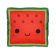 Cute. Mini Pillow - Yummy Watermelon. $18.00, via Etsy.