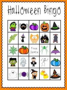 students always love a good game of bingo use this simply first halloween bingo to play in your classroom with your students to celebrate halloween or just