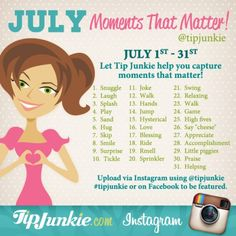 July photo prompts - moments that matter