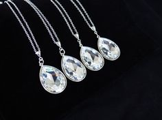 Bridesmaid Set  Crystal Bridal Necklace   by LilykayCouture, $20.00