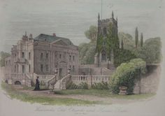 Antique Prints of Bath: Widcombe Manor House and Old Church