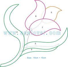 Moldes flores – Naikari Naika – Álbuns da web do Picasa – Handwerk und Basteln Applique Templates, Tutorial Applique, Applique Patterns, Craft Patterns, Applique Designs, Quilting Designs, Beading Patterns, Flower Patterns, Quilt Patterns