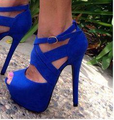 Sexy Blue Heels