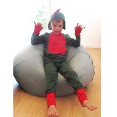 lamajama-putzama-deinosauros1 Pjs, Bean Bag Chair, Costumes, Children, Cotton, Dragon, Halloween, Babydoll Sheep, Carnival
