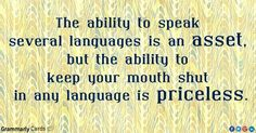 Sometimes it's best to just shut up.