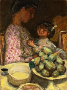 Pierre Bonnard — A Plate of Figs, 1921, Pierre BonnardSize: 59x44...