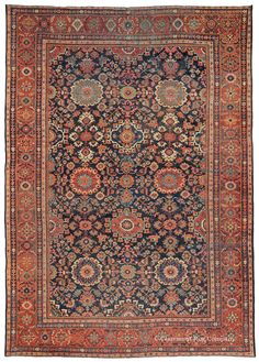 SULTANABAD, West Central Persian 8ft 9in x 12ft 4in Late 19th Century http://gallery.claremontrug.com/gallery/?p=1&g=4&gg=Claremont%202%20-%20Fabulous%20Old%20Rugs!