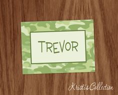 Personalized Folded Note Cards Set of 10 - Personal Boy Male Camo Stationery Stationary - Custom Camouflage d Note Cards by KristisCollection on Etsy