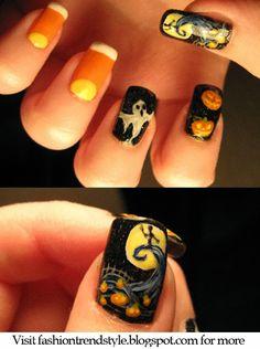 Halloween Easy DIY Nail Designs Tutorial 2 pinned from nail.pixiie.net #nailart #nailpixiie