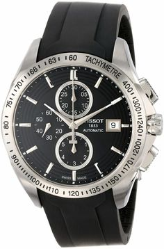 Tissot Men's T0244271705100 Veloci-T Automatic Black Chronograph Dial Watch