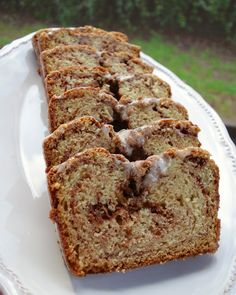 "Cinnamon Swirl Quick Bread...Blog says: ""This bread is so delicious.  It is not too sweet and incredibly moist.  I gave this cake as my Christmas gift to friends and neighbors.  Everyone went nuts over it.  The best part about this bread is that it is super easy to make.  This only takes about 5 minutes to mix together and it makes the house smell heavenly while it bakes.  This is a great treat to make ahead of time; I actually think it tastes better the second day."""
