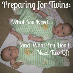 Preparing for Twins: What You Need (and What You Don't Need Two Of) | Des Moines Moms Blog