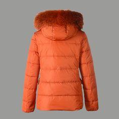 Moncler Doudoune Femme Courte 12W Orange pas cher