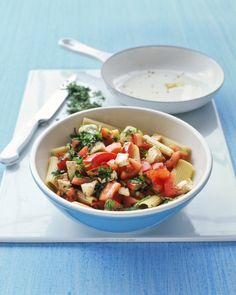 QUICK MEATLESS RECIPES: Rigatoni with Tomatoes and Mozzarella