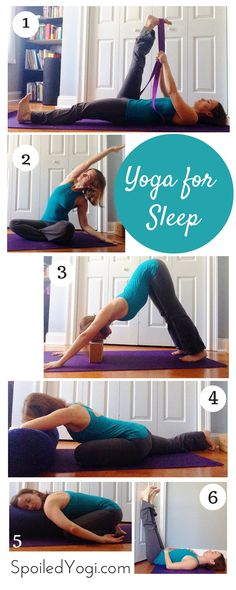 Goodnight Yoga   7 Yoga Poses to Help You Sleep   This yoga sequence is designed to help pregnant and new moms get to sleep faster, and enjoy a better quality of sleep, too.   yoga for sleep, yoga for insomnia,  goodnight yoga   SpoiledYogi.com