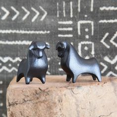 Whether you live in a rental or you own your home, it's amazing what a few accessories can do to liven up the look of the kitchen. Small animal figurines like the El Toro Cast Metal Bull added to a wi