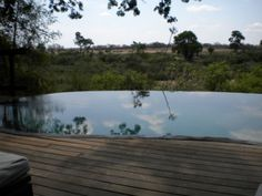 The infinity pool overlooking the bush. What an extraordinary setting!