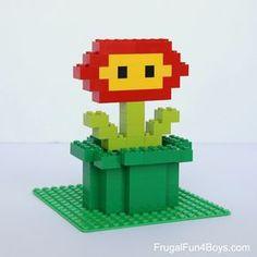 Mario LEGO Projects with Building Instructions - Frugal Fun For Boys and Girls Lego Mario, Lego Super Mario, Mario Kart, Mario Bros, Lego Design, Legos, Lego Lego, Lego Minecraft, Lego Flower