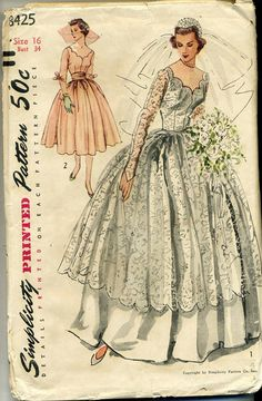 Vintage Vogue 8425 Misses Wedding Gown and by RomasMaison on Etsy, $75.00