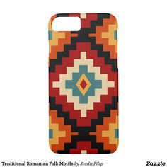 Traditional Romanian Folk Motifs iPhone 7 Case