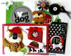 ELITE4U KAM Premade Dog Tear Bear Mat Set Paper Piecing for Scrapbook Album Page | eBay