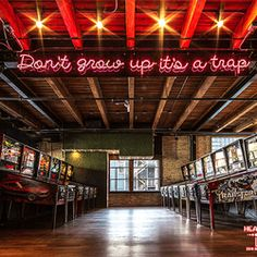 Photo of Headquarters Beercade River North - Chicago, IL, United States. Don't grow up, it's a trap.