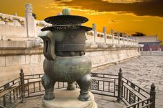 China Temple of Heaven Heaters at Evening by poeticvideo