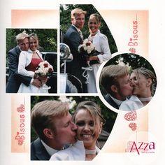Un jour heureux   Azza - Leader du scrapbooking Wedding Scrapbook, Diy Scrapbook, Scrapbook Pages, Scrapbook Designs, Scrapbooking Layouts, Digital Scrapbooking, Wedding Album, Wedding Photos, Mosaic Wedding