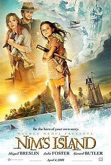 Directed by Jennifer Flackett, Mark Levin. With Jodie Foster, Gerard Butler, Abigail Breslin, Michael Carman. A young girl inhabits an isolated island with her scientist father and communicates with a reclusive author of the novel she's reading. Family Movie Night, Family Movies, Nims Island, Queen Of The Tearling, Island Movies, Movie Subtitles, Abigail Breslin, Jodie Foster, Award Winning Books