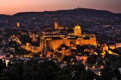 Buda Castle at sunset #Hungary #Castle #Sunset