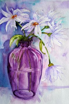 Watercolour Florals: Paintings at Art Group: Catch-up