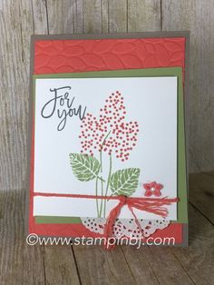 Thoughtful Branches by Stampin' Up! is a must have bundle!  Check it out for this limited time offer!